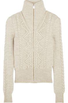 Isabel Marant   Dixon cable-knit wool-blend cardigan   NET-A-PORTER.COM