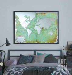 Green mirrored world map world market im in love with this its mirrored world map home accessories at art gumiabroncs Images