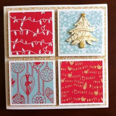 Christmas card using Docrafts Papers