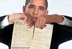 WILL WE LET THIS BOZO SHRED OUR CONSTITUTION?????    IMPEACH OBAMA