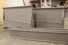 Painted in Valspar beige shadow. Equivalent to Annie Sloan French linen color