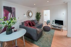Stylish 2 bedroom flat in Fulham Broadway Decor, Furniture, Room, Holiday Home, Sectional Couch, Apartment, Home Decor, Rental Apartments, Bedroom