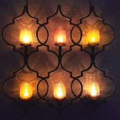 Another customer shot of LITdecor amber glass all lit up on her awesome wall sconce😀