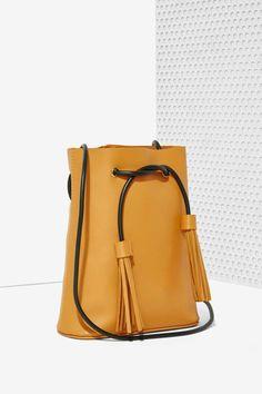 Paradigm Vegan Leather Bucket Bag - Brown - Accessories | Bags + Backpacks