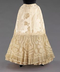 Wedding petticoat, 1904. American. The Metropolitan Museum of Art, New York. Brooklyn Museum Costume Collection at The Metropolitan Museum of Art, Gift of the Brooklyn Museum, 2009; Gift of Charlotte Stillman, 1951 (2009.300.3137)