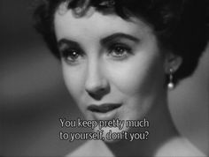 You keep pretty much to yourself, don't you?  #Movie #Cinema #Film #Screenshot #Subtitle #Still