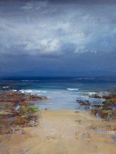 Ken Knight – The distant horizon - Art Painting Seascape Paintings, Landscape Paintings, Watercolor Paintings, Eye Painting, Oil Paintings, Abstract Landscape, Abstract Art, Artist Gallery, Ocean Art