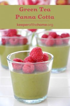 Green Tea Panna Cotta: The Easiest Summer Dessert You'll Ever Make {KeeperoftheHome.org}