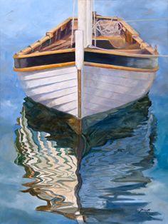 Longboat - Wooden Boat Paintings by Janne Matter