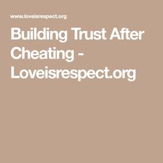 how to build trust in relationship after cheating