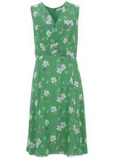 Rachel Print Sleeveless Dress in Bright Apple