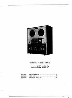 Akai GX-370 reel tape recorder Service Manual  100 satisfaction guaranteed  100 Virus Free burned CD  DOWNLOAD