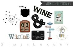 Sims 4 CC's - The Best: Wall Stickers by Sims4Luxury