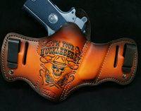 Im Your Huckleberry  custom Savoy leather holster
