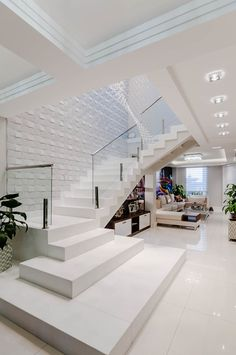 haus design A staircase is an important part of a house. It helps the inhabitants of the house to access other parts Luxury Homes Interior, Interior Exterior, Home Interior, Modern Interior Design, Interior Ideas, Home Stairs Design, House Design, Design Design, Stairway Railing Ideas