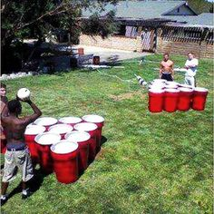 Giant Beer Pong from painted trash cans. I hate beer pong, but this would actually be fun! The Last Summer, Summer Fun, Summer Time, Summer Nights, Summer Bucket, Summer Parties, Summer Ideas, Giant Beer Pong, Painted Trash Cans