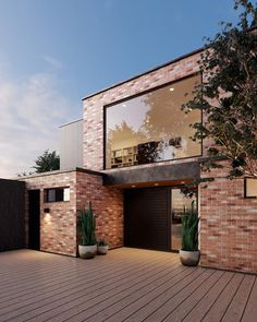 We're constantly hearing about the latest home interior looks but what about the exterior? Harley Anstee and Sonia Simpfendorfer of Nexus Designs share their top exterior trends for Modern Brick House, Brick House Designs, Modern House Design, House Cladding, Facade House, Brick Facade, Industrial House, Industrial Chic, House Colors