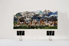 Italian artist Caterina Rossato creates unique collages out of old postcards, where she layers together cut-out images and applies them to wood to form sculptures of beautiful landscapes from across. 3d Collage, Collages, 3d Landscape, Creative Landscape, Italian Artist, Vintage Postcards, Beautiful Landscapes, Making Out, New Art