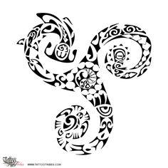Tatuaggio di Triskell, Triathlon tattoo - custom tattoo designs on TattooTribes.com