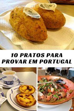 10 pratos para provar em Portugal. Saiba o que comer em Portugal, as comidas típicas portuguesas para provar durante sua viagem. 10 pratos que você precisa experimentar em Portugal #portugal #gastronomiaportuguesa #comidaemportugal