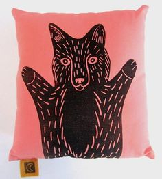 Small Fox Pillow Cover by Chloé Derderian-Gilbert available at Scoutmob now. The place to get inspired goods by local makers. Cute Cushions, Cute Pillows, Throw Pillows, Fox Pillow, Pillow Talk, Knitting Projects, Sewing Projects, Fluorescent Light Covers, Forest Nursery
