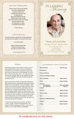 memorial programs templates funeral | Templates » Memorial Cards For Funerals | Funeral Program Template ...
