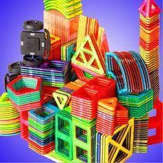 1 pz formato standard di costruzione magnetico blocchi 24 diversi tipi bambini giocattoli educativi blocchi giocattoli di plastica diy
