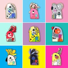 ILLUSTRATION | ENAMEL PINS BY PETE CROMER