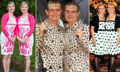 Taking sisterly twinhood to extreme...  Fashion-conscious Kathy Heffernan and Rosey Coles, 60, used to dress alike as teenagers but the habit ended when they got married and moved apart. For the last two years they have lived side-by-side in Aldershot, Hants., where they work together with their own joint cleaning business, and do absolutely everything together, dressed in matching clothes.