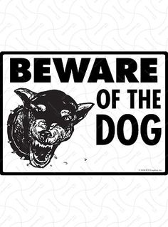 12x18 6 Pack Warning Guard Dogs Will Attack Print Dog Picture Large Notice Safety Sign Aluminum Metal