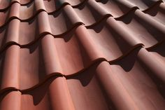 The delightful cuves of a new clay pan tile roof