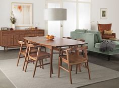 Room and Board Ventura Table and Jansen Chairs in Maple