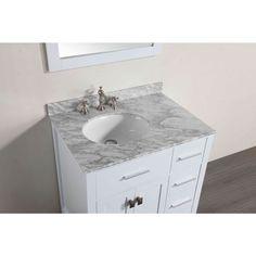 Bosconi White Wood 30-inch Single Vanity