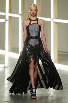 Gothic Couture: Black Fringe Power Dress from Rodarte Spring 2013. Via Fashionista.com.