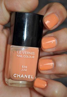 Chanel creamy apricot nail polish