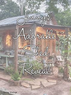 Jenny's adorable shed made with reclaimed building materials   Living Vintage