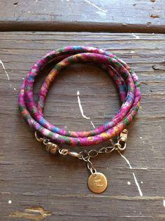 recycled fabric bracelet