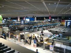 at Narita airport