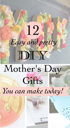 12 DIY Mothers Day gifts - Little Free Monkeys
