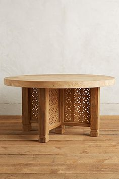 Handcarved Fretwork Dining Table, Round - anthropologie.com