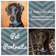 Pet Portrait by AHolmesArtStudio on Etsy