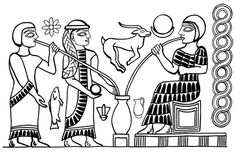 Ancient Sumerians drinking some beer!!!