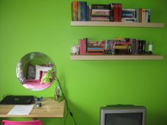 hot pink, green and red  teen Girls' Room | Hot Pink, Green and Zebra Stripes-Vibrant New Room for Teen, Redone ...