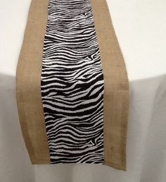 Genial Zebra Print And Burlap Table Runner, Custom Sizes Available, Home Decor,  Baby Shower