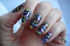 My first attempt at stained glass nail art is on the blog with a quick how to.  I used Mrs. P's Potions - What The Flair?! and OPI Sheer Tints  http://fabulouslifeofmrsp.blogspot.ca/2015/02/stained-glass-valentines-day-nails-with.html
