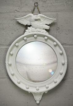 "White ""BonBon"" Mirror – Sassy Hardwick Furniture and Lighting"