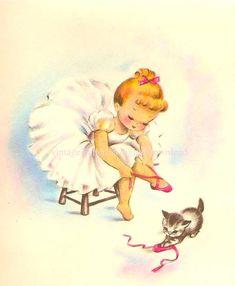 vintage ballerina from etsy seller