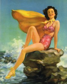 Al Buell pinup #pinupartsource #albuell