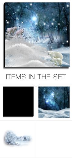"""Cold Weather Animals"" by erina-i on Polyvore featuring art"