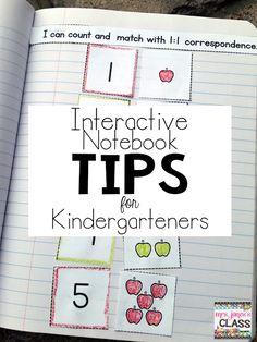 Interactive Notebook Tips for Primary Kids (Mrs. Jones's Kindergarten)